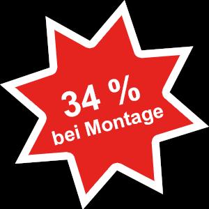 34 % Rabatt bei Montage