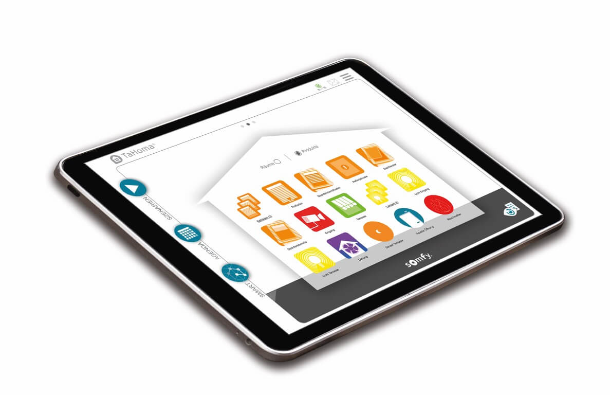 Smart Home Tablet-Homesteuerung