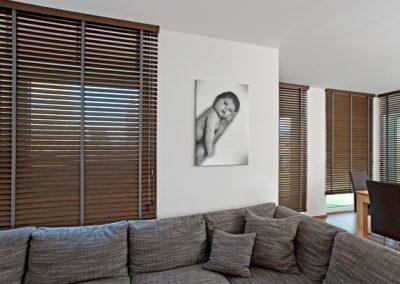 Holzjalousien für Deckenmontage