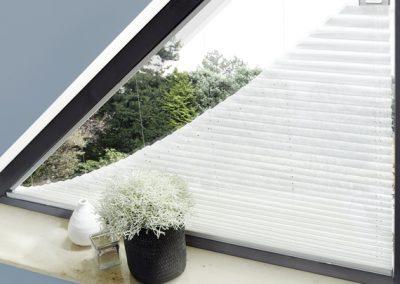 Plissees für eckige-Fenster