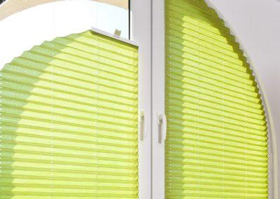 Plissees für Halbrunde und Viertelkreisfenster