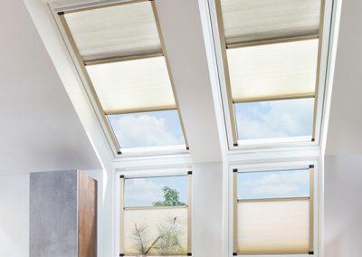 Wabenplissees für Dachfenster